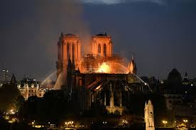 Nortre Dame Cathedral on Fire